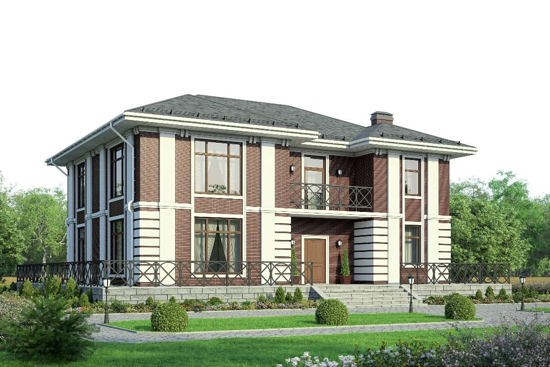 Проекты домов с большими балконами.